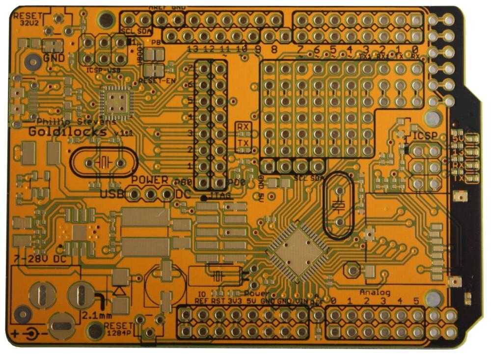 """Goldilocks"" 1284p Arduino UNO Clone (6/6)"