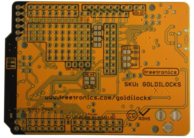 Goldilocks v1.1 PCB Back