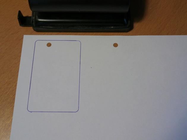RFID delete hole template