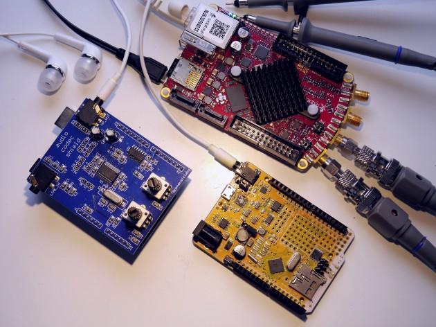 OML Audio Codec Shield & Goldilocks Analogue with Red Pitaya